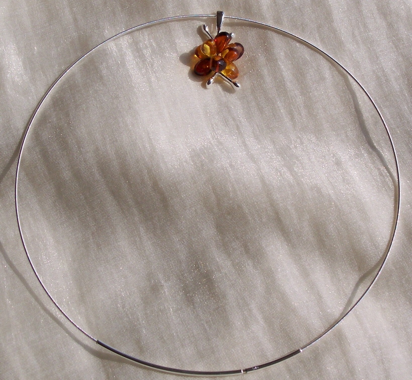 Amber Silver Chain for pendants CHNW01