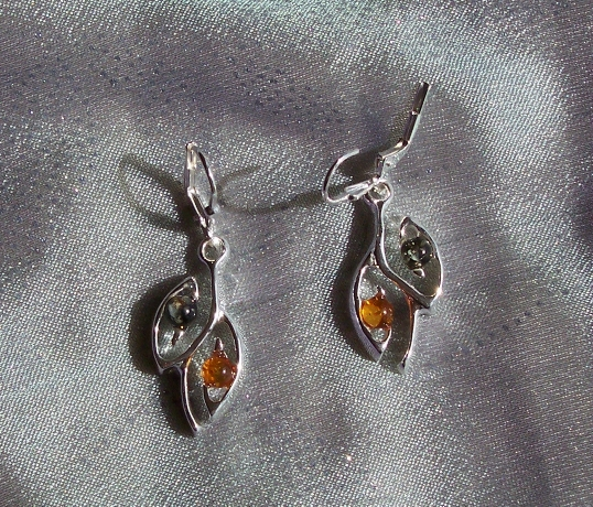 Amber Silver Earrings ER1057