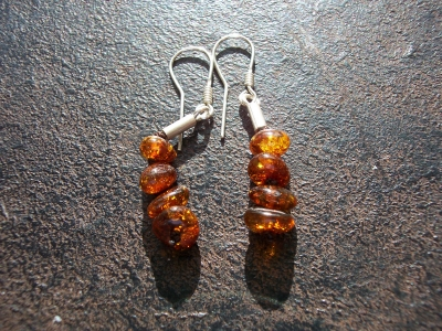 Amber Silver Earrings ER106