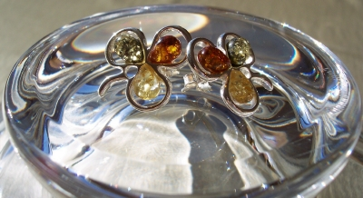 Amber Silver Earrings to stick ES1052