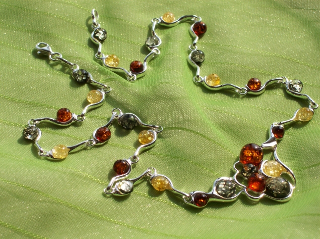 Amber Silver Necklace NE1005