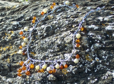 Amber Silver Necklace NE1024