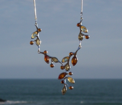 Amber Silver Necklace NE1047