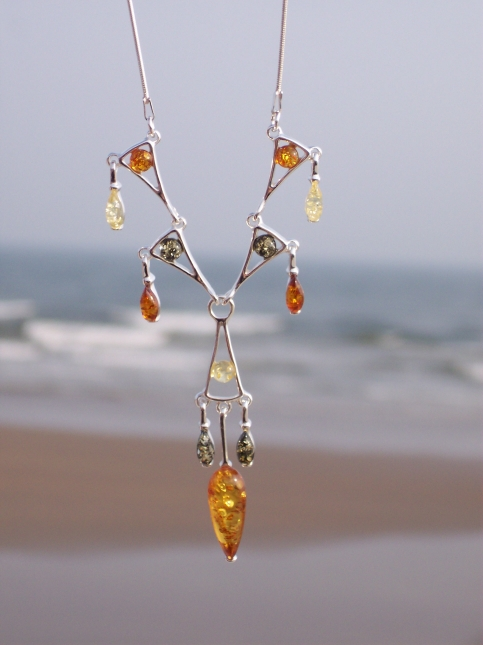 Amber Silver Necklace NE2060