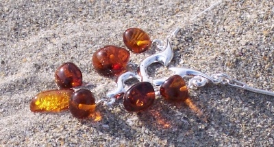 Amber Silver Necklace NE2069