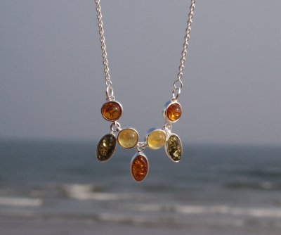 Amber Silver Necklace NE3053