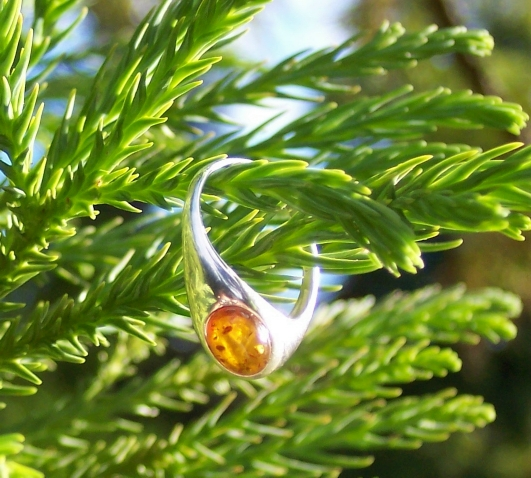 Amber Silver Ring RG19